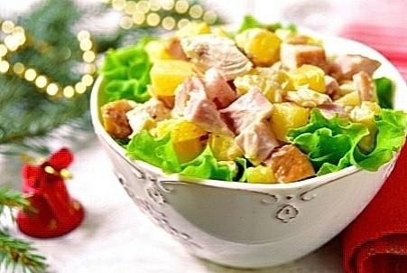 Édes-sós csirke saláta