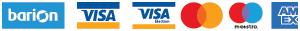 A weboldalon bankkártyás fizetésre van lehetőség, a biztonságról a Barion gondoskodik.