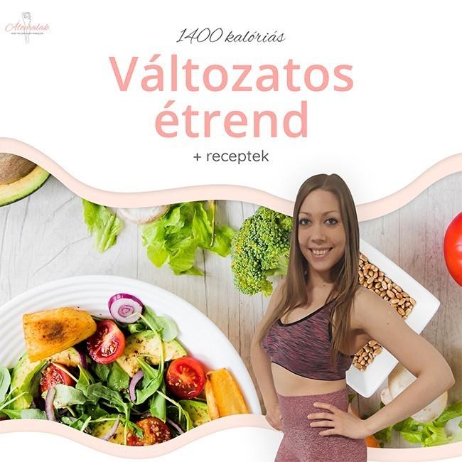 1400 kalóriás változatos diétás étrend receptekkel