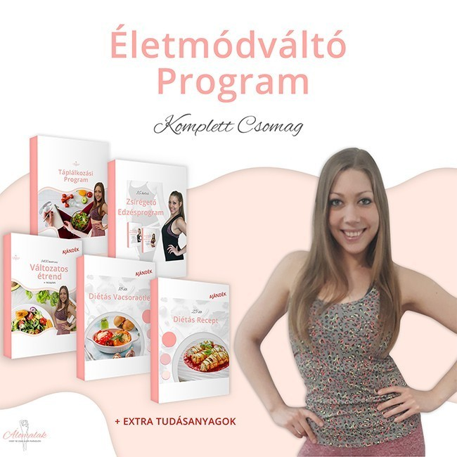 az életmódváltó program komplett csomag mindent tartalmaz amire az életmódváltáshoz szükséged lehet