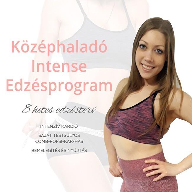 középhaladó intense edzésprogram
