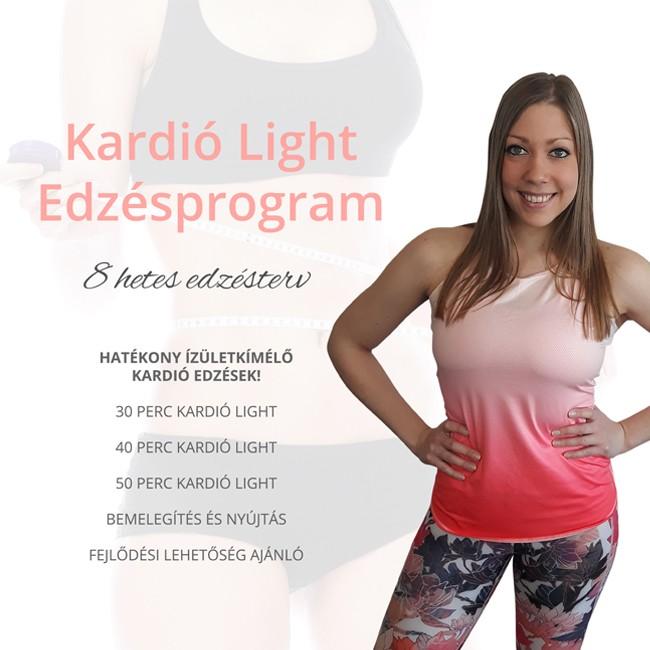 kardió light edzésprogram 8 hetes edzéstervvel